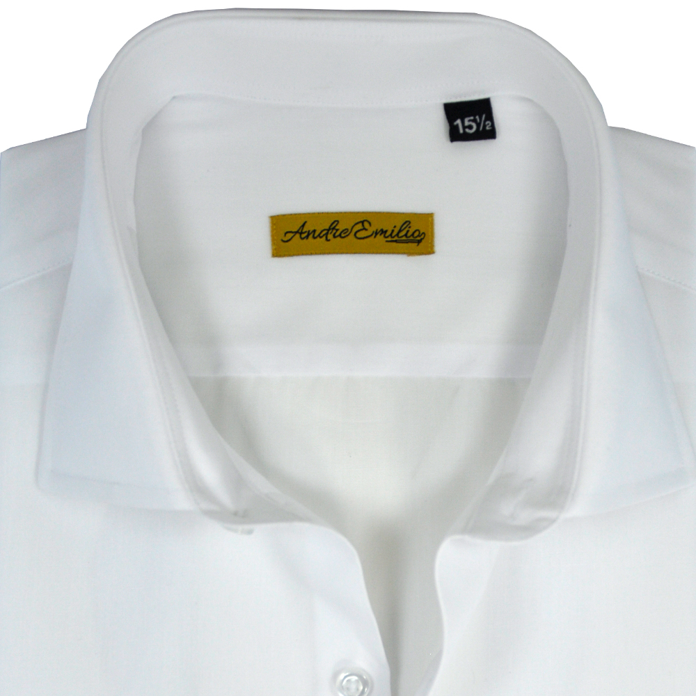 100% Cotton White Formal Shirt With Wide Spread Collar 1
