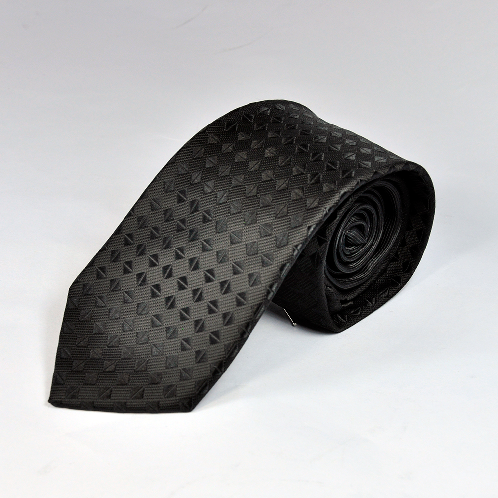 Black Diamond Texture Tie