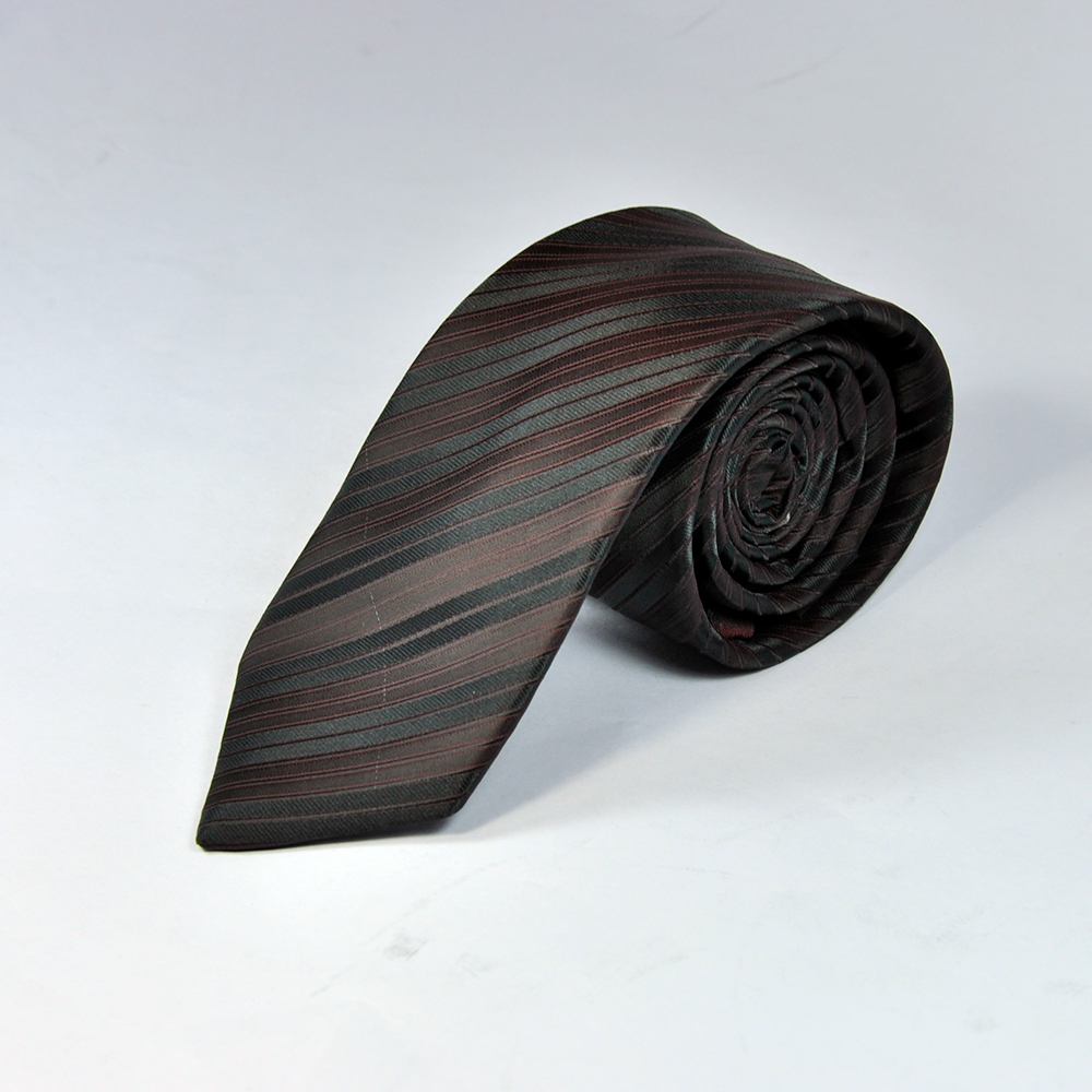Black and Brown Diagonal Style Tie 1
