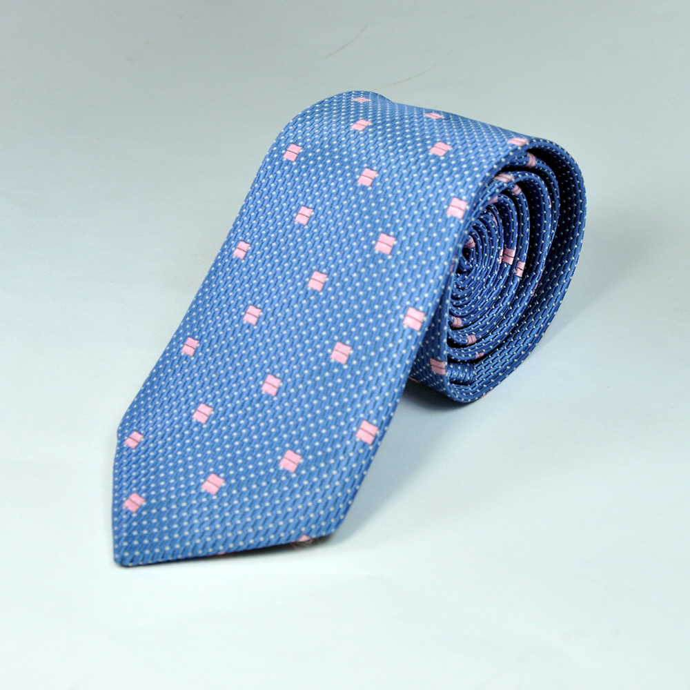 Blue and Pink Texture Tie
