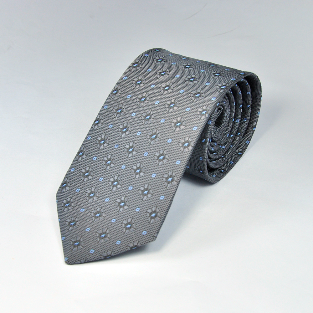 Grey Diamond Texture Tie