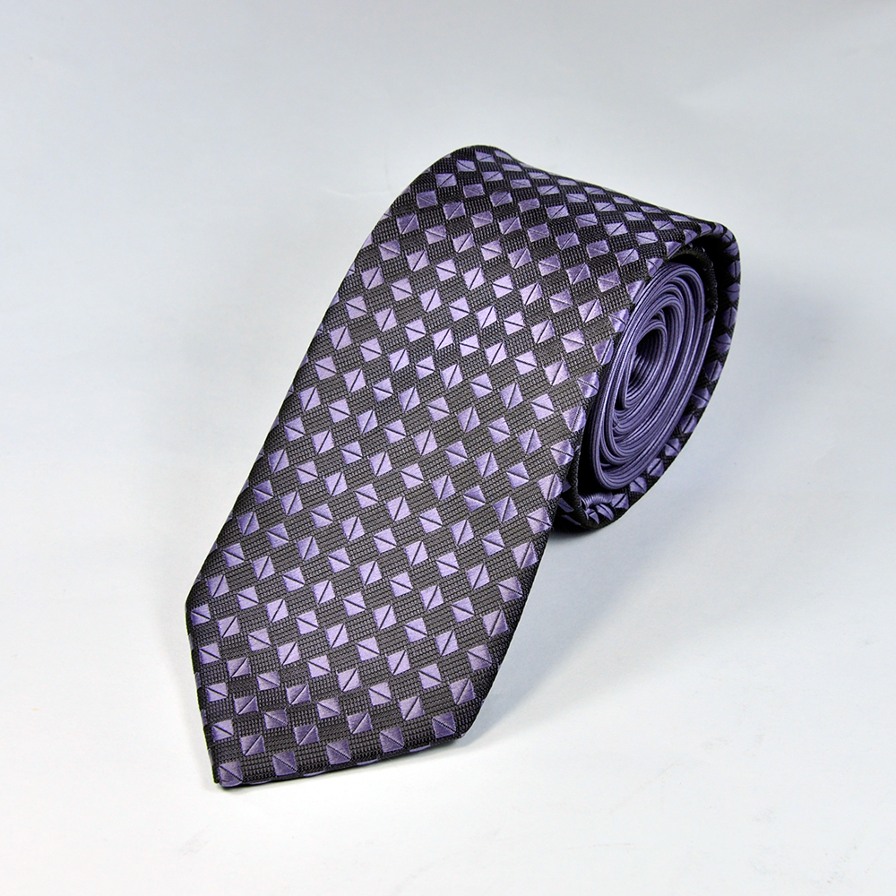 Purple Diamond Texture Men Tie