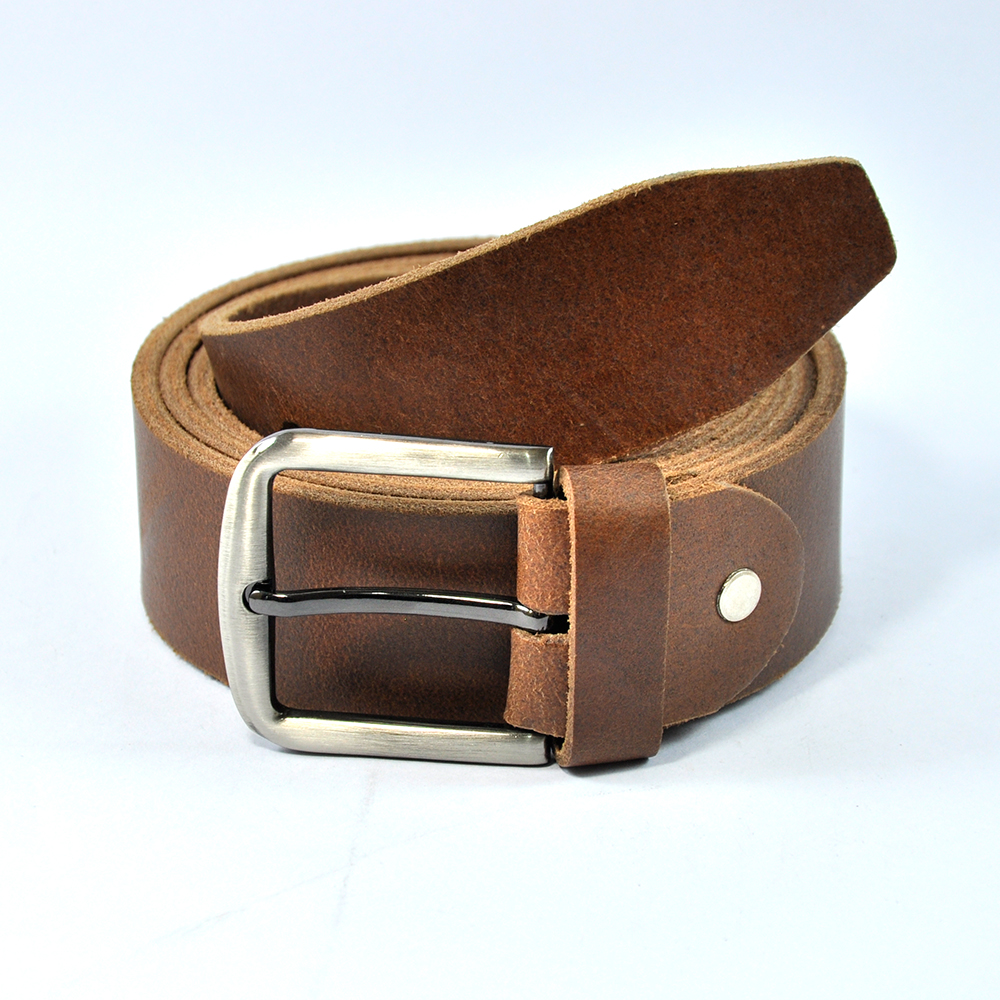 Rust Brown Belt with Luxury Buckle