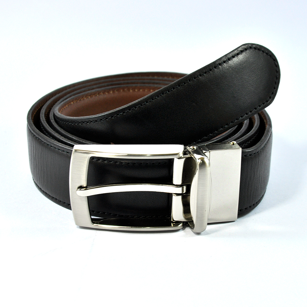 Stylish Black Leather Belt