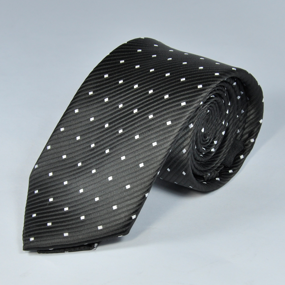 Black Dotted Tie