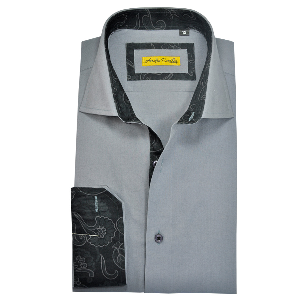 Men Grey Slim Fit Shirt