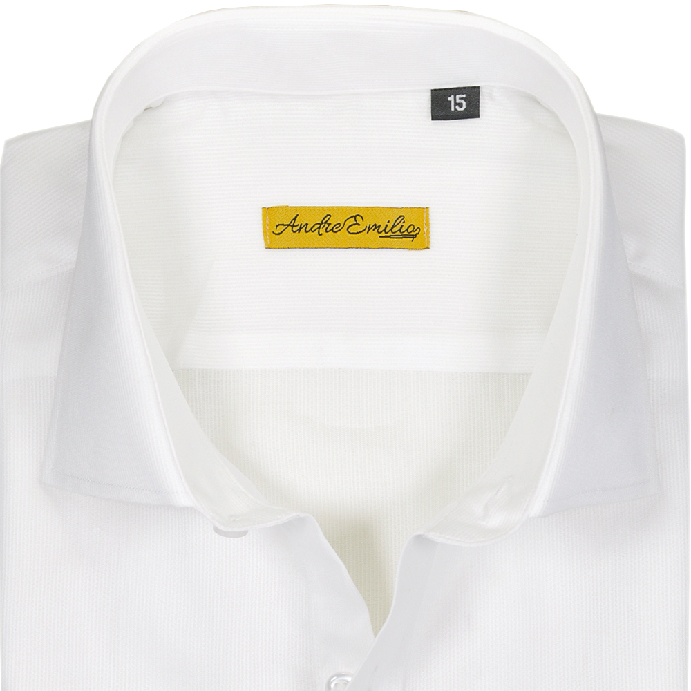 Self Lining White Dress Shirt with Tab Front 1
