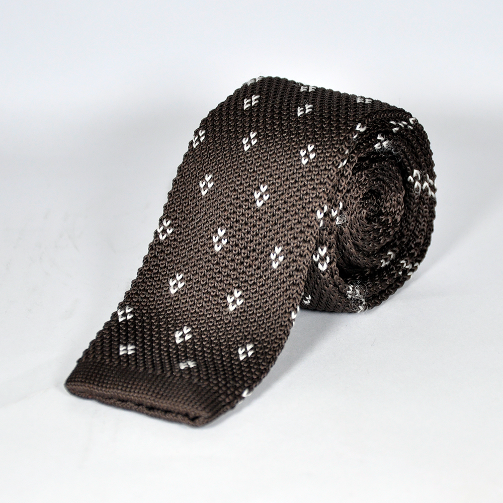 Brown Knitted Tie 1