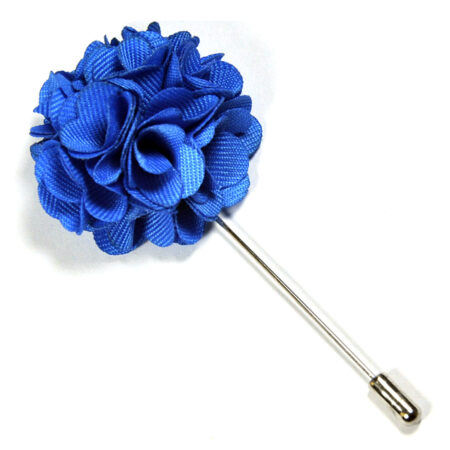 Sky Blue Floral Lapel Pin