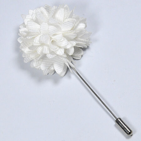 Stylish White Flower Lapel Pin