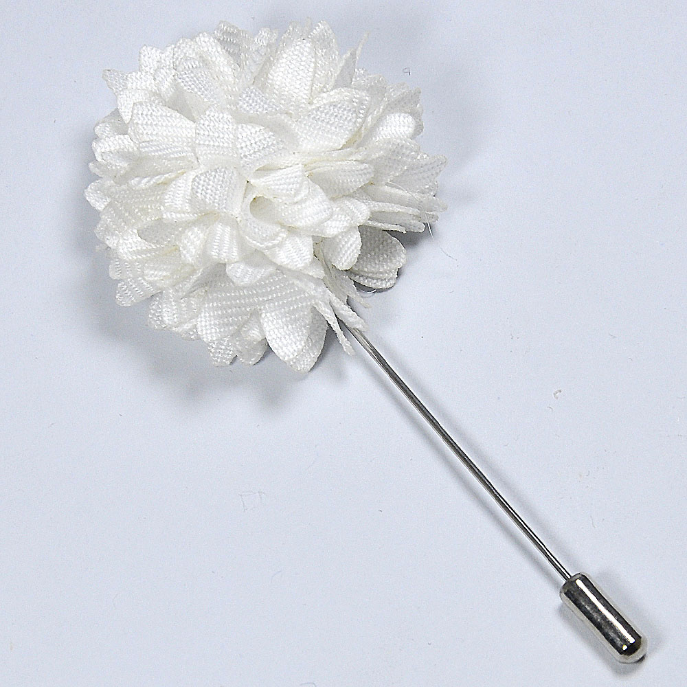 Stylish beautiful white flower lapel pin andre emilio stylish white flower lapel pin mightylinksfo