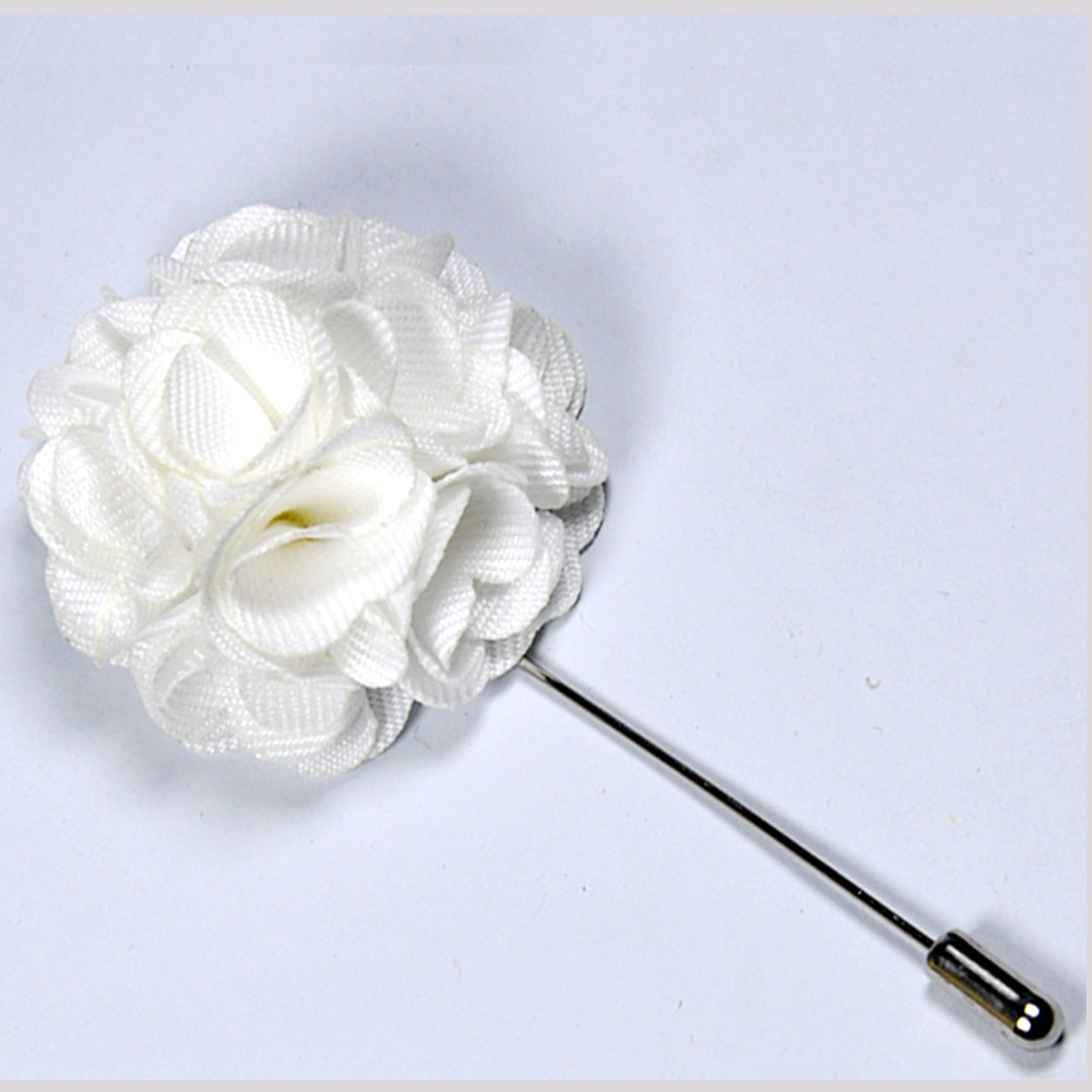 Stylish white flower lapel pin for mens andre emilio white flower lapel pin for men mightylinksfo