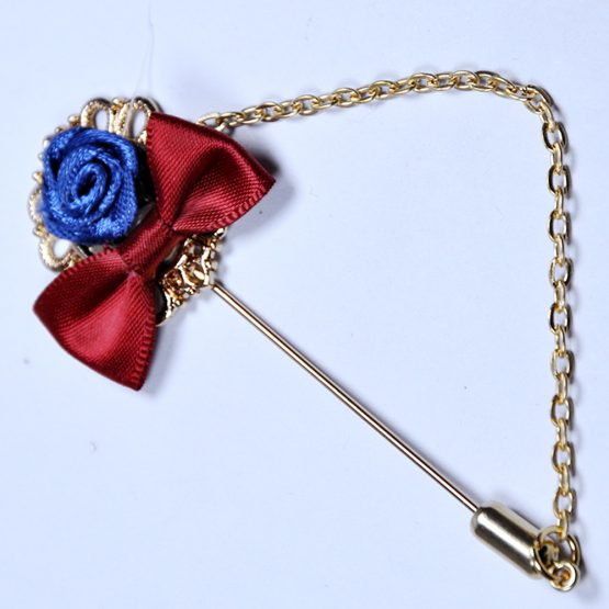 Bow & Flower Style Lapel Pin
