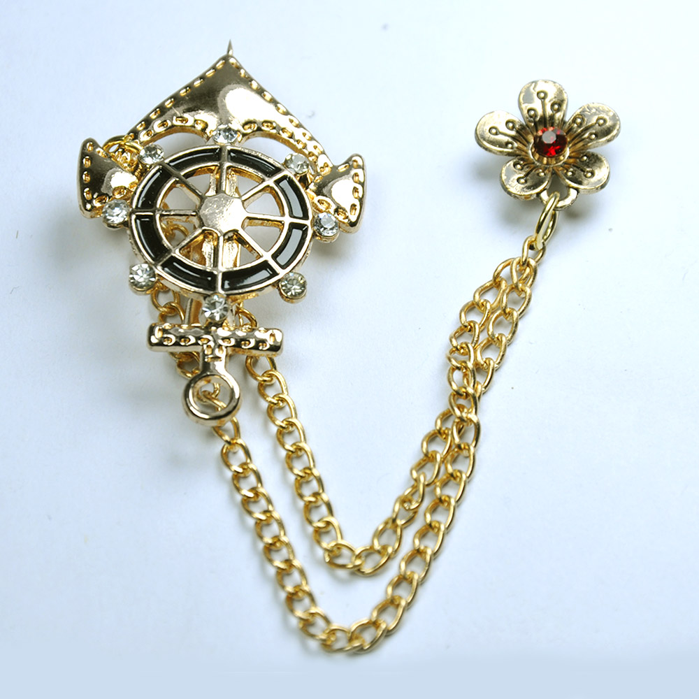 Golden Anchor Brooch