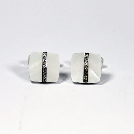White Square Shape Cufflinks