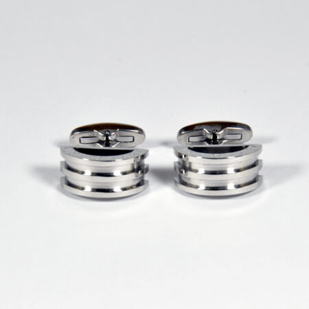 Stainless Steel Silver Cufflinks for Men