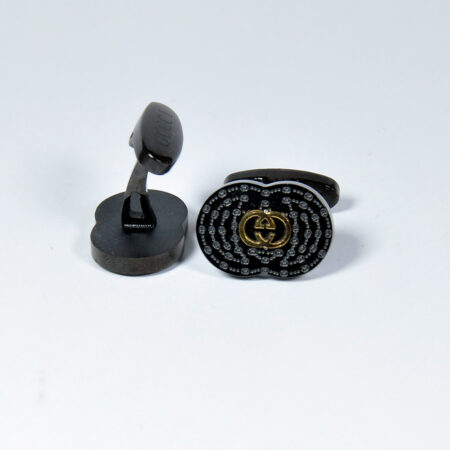 Oval Shape Black Cufflinks for Men
