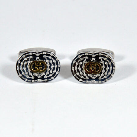 Oval Shape Silver Cufflinks for Men