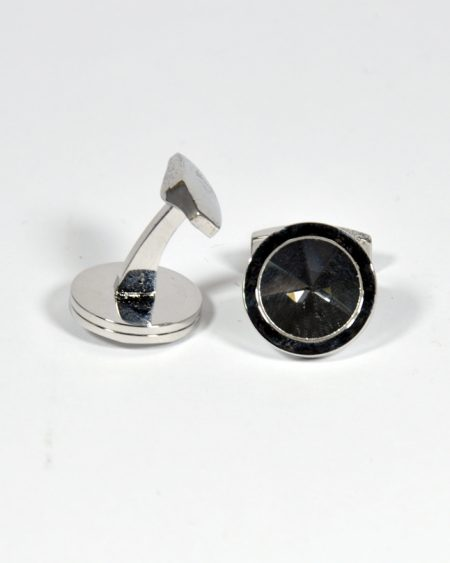 Round Shape Silver Cufflinks for Men