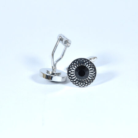 Stone Studded Flower Cufflinks for Men
