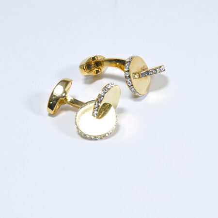 Double Oval Shapes Cufflinks for Men