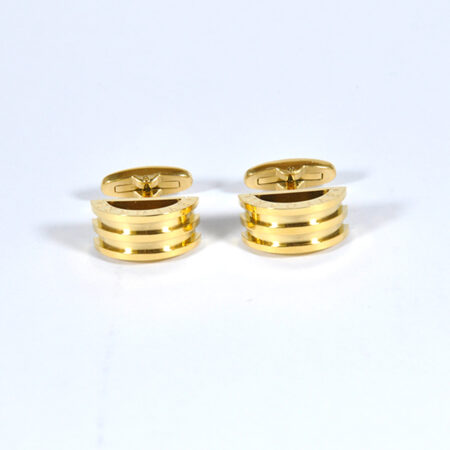 Golden 3 Layers Cufflinks for Men