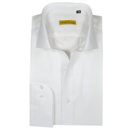 White Lining Texture Formal Shirt