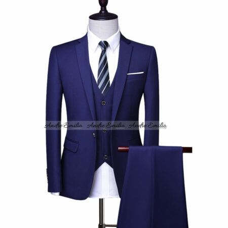 Top Notch Ocean Blue Men Suit with Waistcoat and Pant