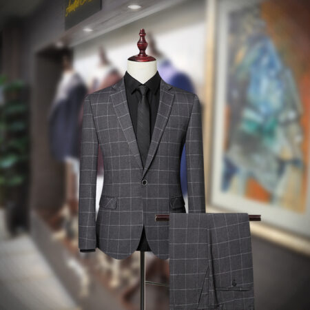 Windowpane check Slim Fit Suit