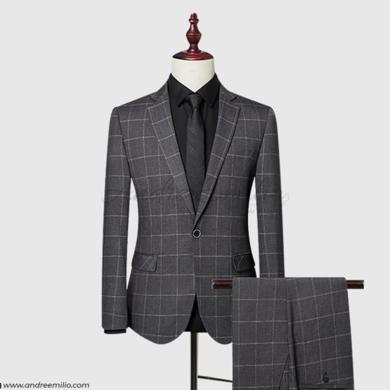 Windowpane check Slim Fit 2 Piece Suit