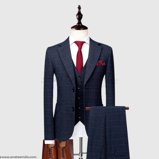 Customize Midnight Blue 3 Piece Suit