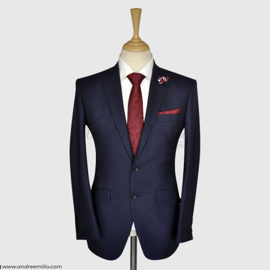 Navy Blue 2 Piece Suit