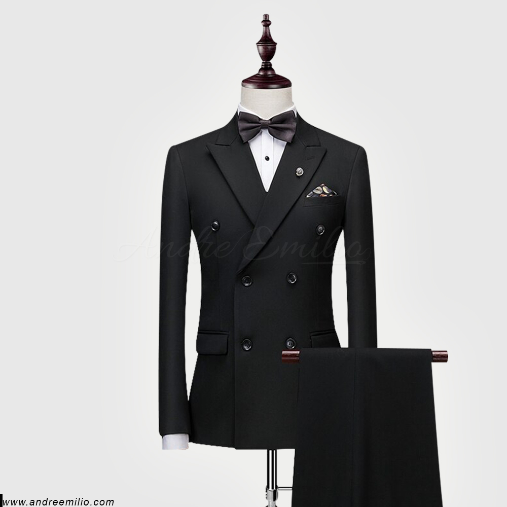 Black Double Breasted Suit