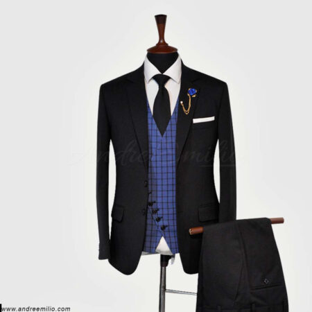 Dark Black 3 Piece Suit