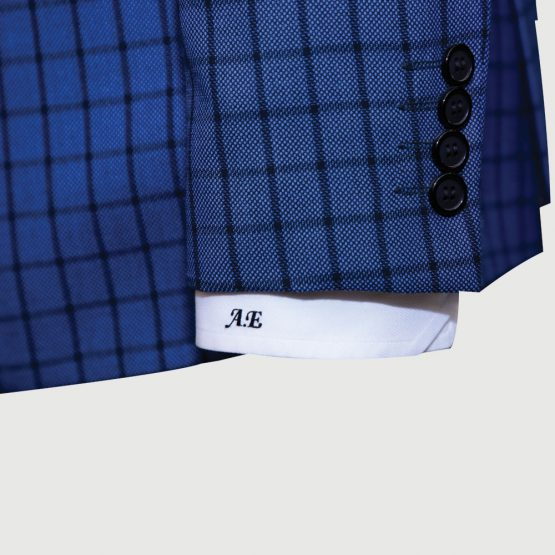 Blue Checked Two Piece Suit