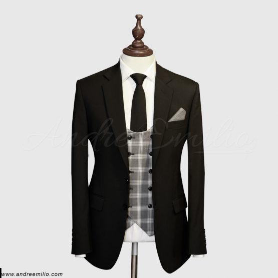 Jet Black 3 Piece Suit