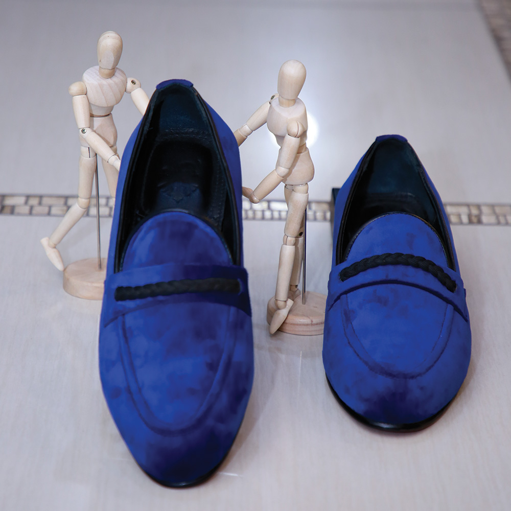 Navy Blue Suede Loafers (2)