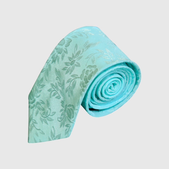 Sky Green Hand Made Tie