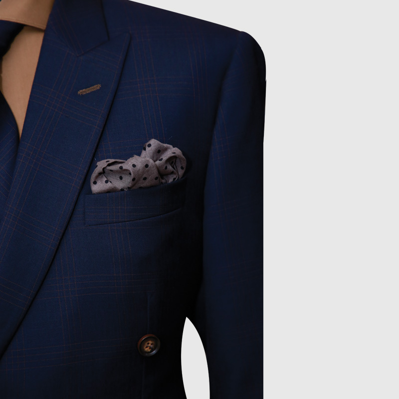 Navy Blue 2 Piece Double-Breasted Suit