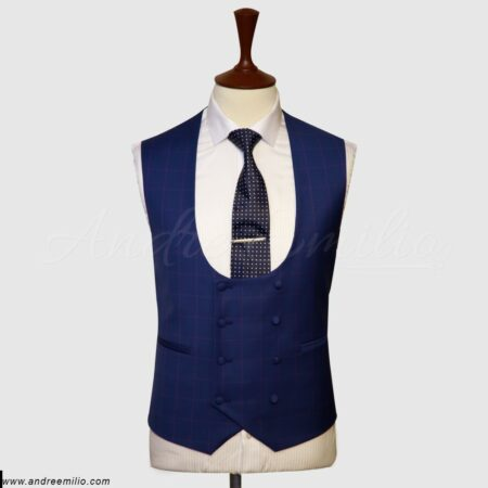 Double Breasted Navy Blue Vest