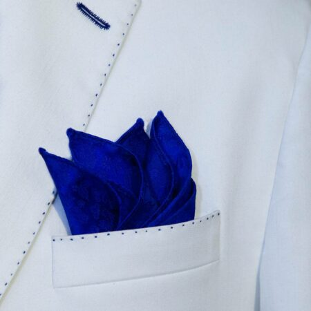 Royal Blue Silk Pocket Square