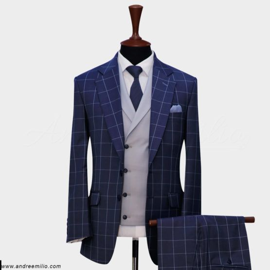 Glen Check 3 Piece Suit (1)