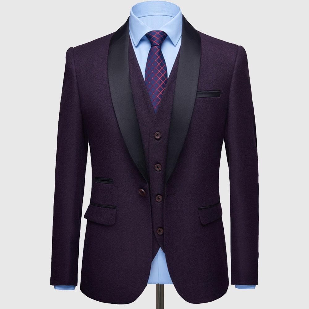 Plum Purple Tuxedo Suit