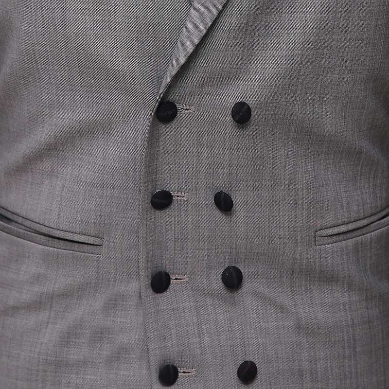3 Piece Checked Black And Gray Suit Vest