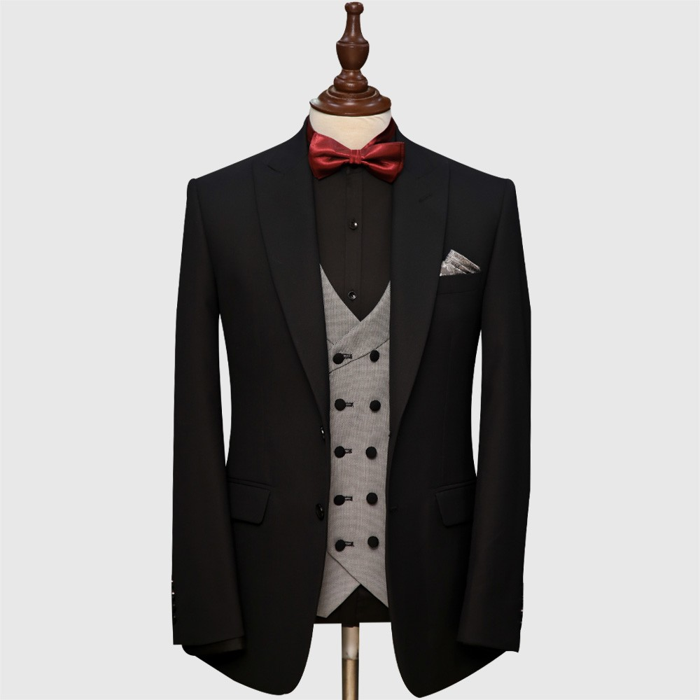 Black And Gray 3 Piece Suit