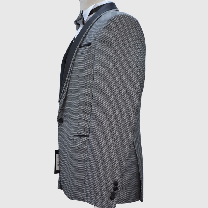 Dotted Gray Tuxedo Side
