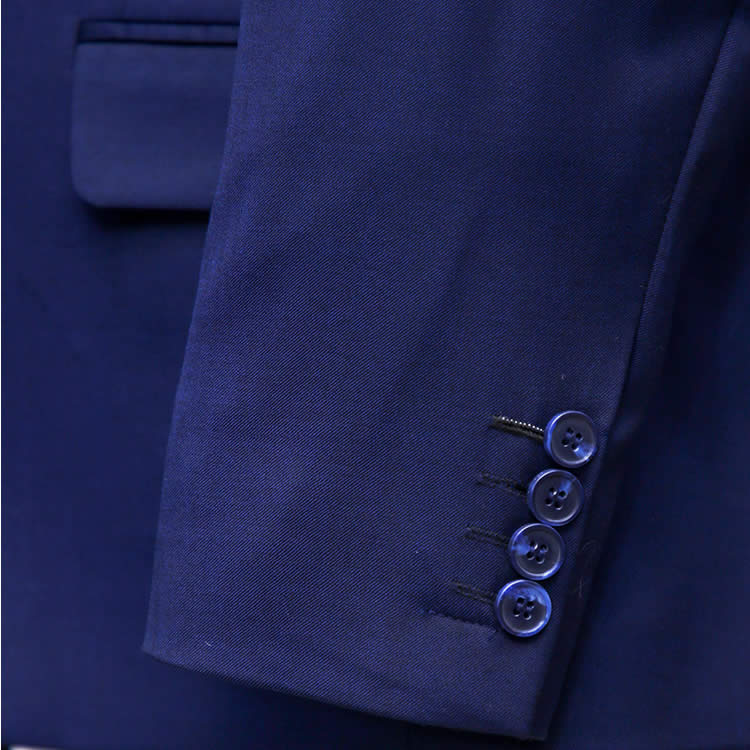 Classic Navy Blue Suit Sleeves