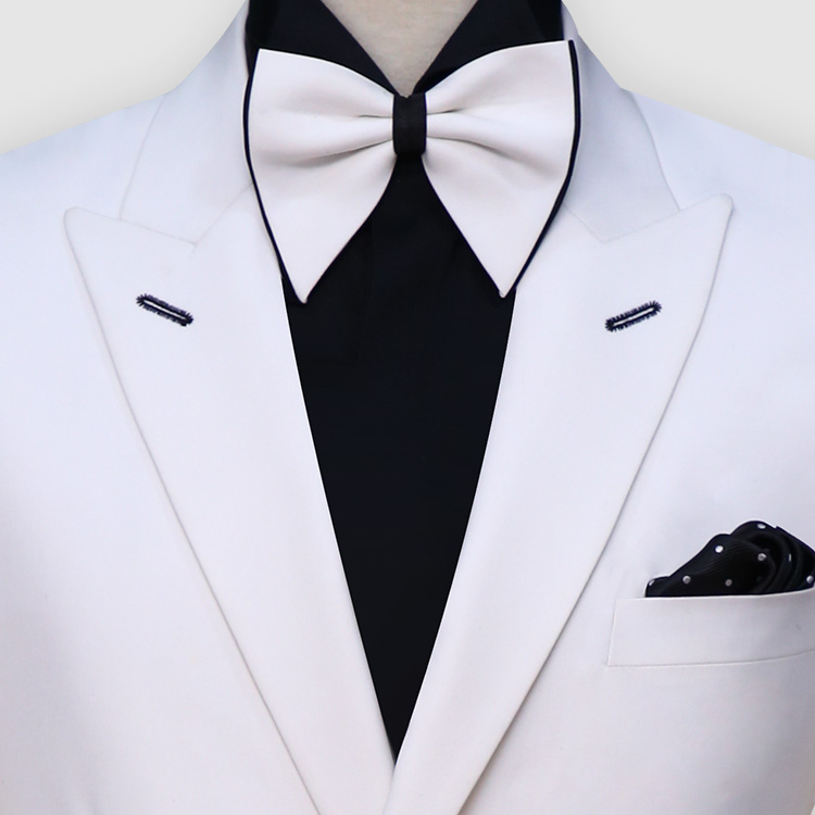 Double Breast White Suit Front
