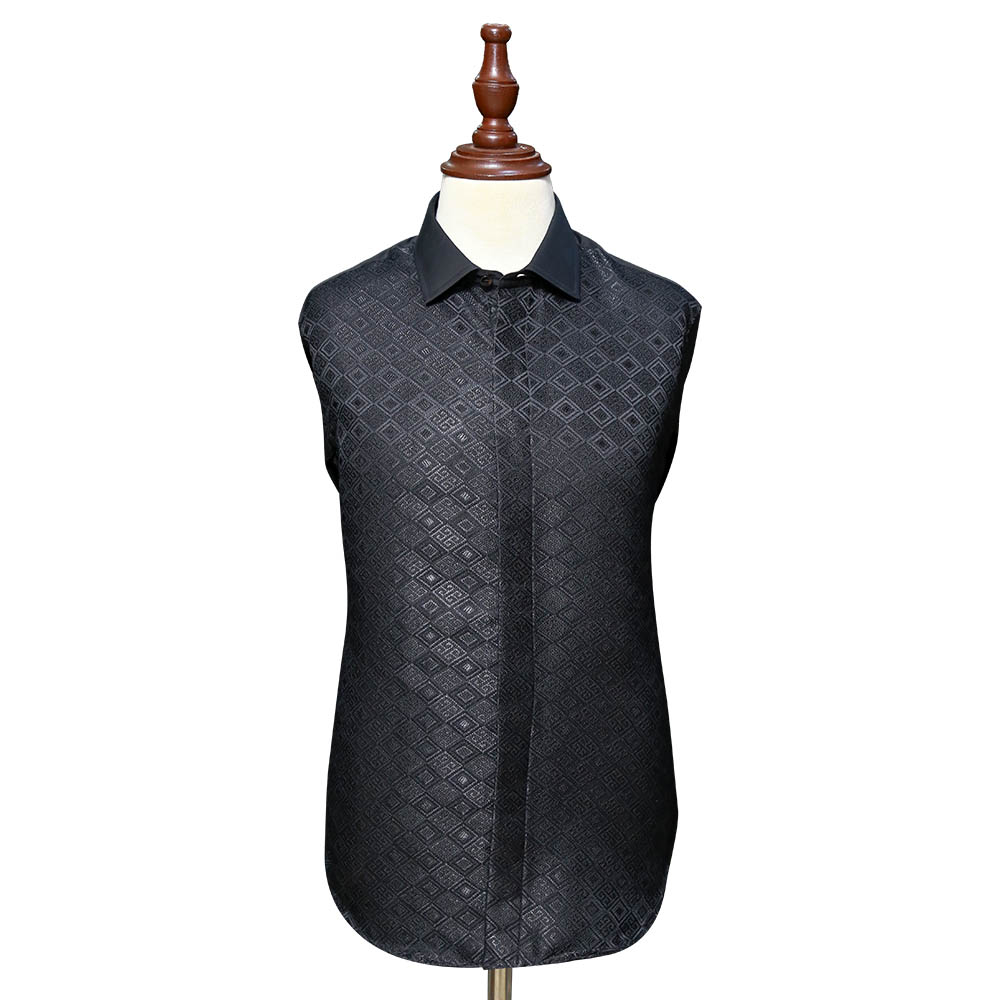 Black Textured Shirts For Men Full View