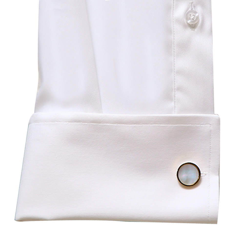 Men Embroided White Shirt Sleeves